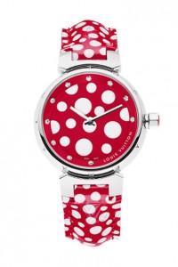 Paixão do dia: o relógio de Yayoi Kusama para Louis Vuitton
