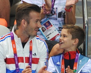 Climão: filho de David Beckham torce para time rival do pai…