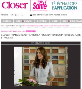 Revista francesa tira fotos do ar de Kate Middleton fazendo topless, mas…