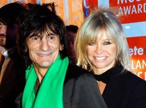 Ronnie Wood, do Rolling Stones, está uma fera com a ex-mulher