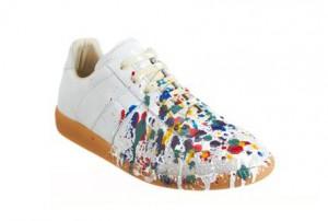 Canal NY: Sneaker italiano com respingos de tinta é nova tendência