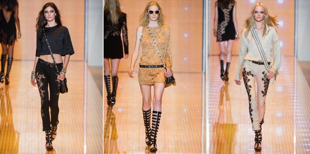 06daf6387 Com coleção sexy e comercial, Versace desfila sua primavera-verão em ...
