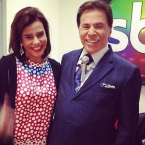 """Narcisa Tamborindeguy tieta Sílvio Santos e decreta: """"Meu ídolo"""""""
