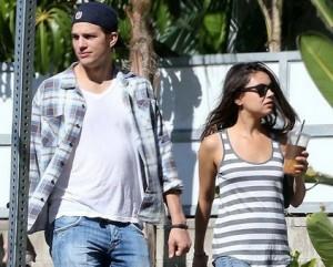 Mila Kunis nega que esteja grávida de Ashton, mas e a barriguinha?