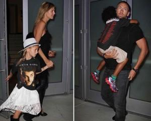 Heidi Klum leva o novo namorado e os filhos ao show de Justin Bieber
