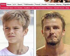 Filho de David Beckham faz tatuagem igualzinha a do pai. Vem ver!