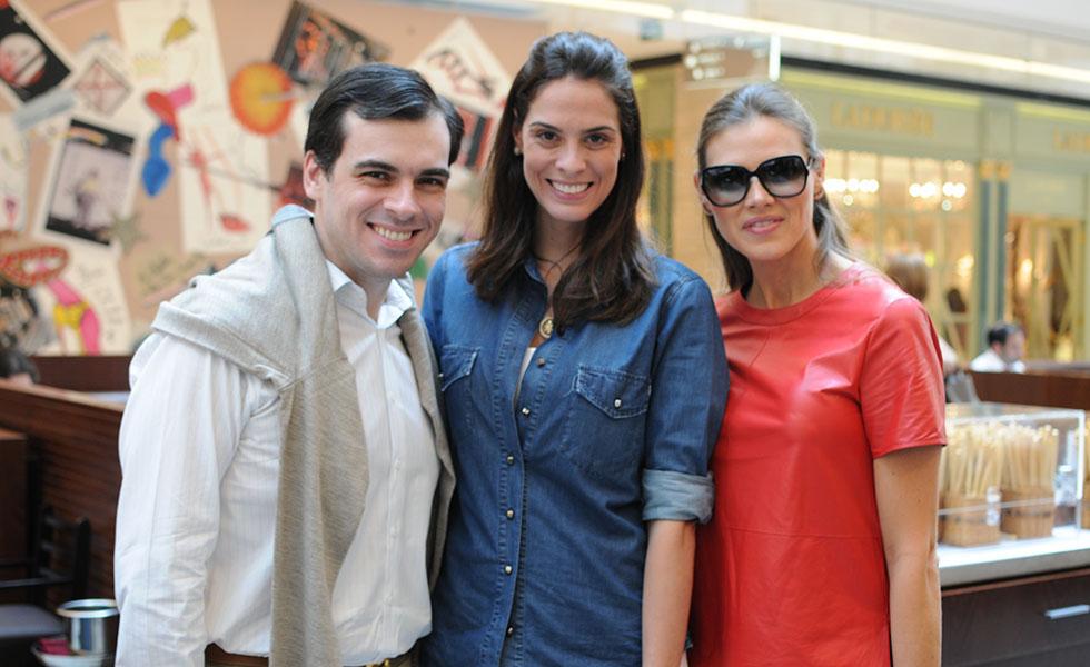 Sandro Barros, Renata Queiroz e Maythe Birman