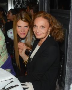 Diane von Furstenberg recebe stars em noite de agito em Paris