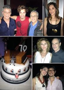 Exclusivo! Imagens da festa de 70 anos de Milton Nascimento