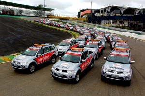Carrões da Mitsubishi invadem a Fórmula 1 neste final de semana