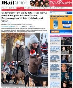Tom Brady faz programa só de rapazes depois do nascimento de sua filhinha