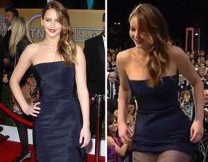 Porta-voz da Dior afirma: vestido de Jennifer Lawrence não rasgou