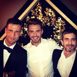 Pedro Andrade brinda 2013 com Lorenzo Martone e Marc Jacobs