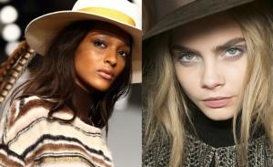Os melhores makes e penteados da Semana de Moda de Londres