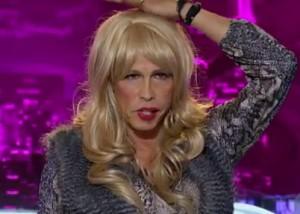 "Steven Tyler se veste de mulher e tenta a sorte no ""American Idol"". Oi?"