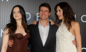 Duas atrizes estão na comitiva de Tom Cruise. Conversamos com elas