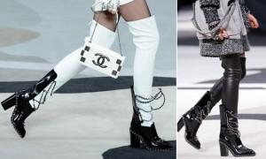 Desejo do dia: as botas de couro e correntes da Chanel
