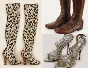 Sapatos usados por estrelas do showbiz vão a leilão nos Estados Unidos