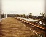 O terraço do JK Iguatemi já está sendo preparado para o piquenique