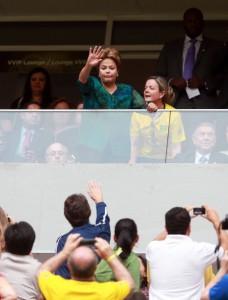 Dilma sai de campo – literalmente – após vaias na Copa das Confederações