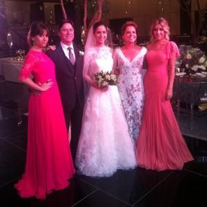 Festa de casamento em Nova York reúne turma de glamurettes