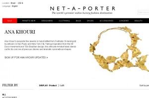 Marca de joias de Ana Khouri estreia no Net-a-Porter