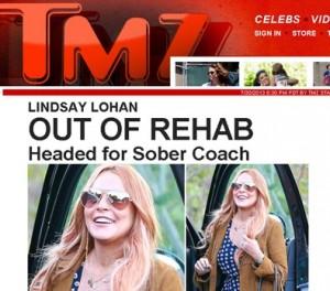 Extra! Acabaram os 90 dias de rehab de Lindsay Lohan. E agora, hein?