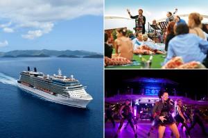 Festas temáticas e apresentações ao vivo embalam os cruzeiros da Celebrity Cruises