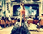 Com cenário em ruínas, Chanel apresenta sua coleção couture