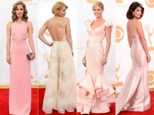 Deu rosa no tapete vermelho do Emmy Awards 2013. Aos looks!