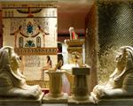Louboutin celebra nova coleção com vitrines inspiradas no Antigo Egito