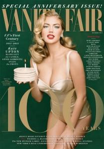 """Só dá ela! Kate Upton estrela capa de 100 anos da revista """"Vanity Fair"""""""