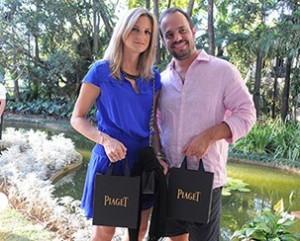 Marca de joias Piaget mima convidados da festa da J.P com peças de luxo