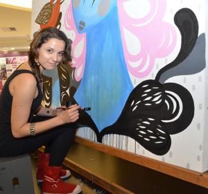 Uma conversa com Nina Moraes durante o live painting no M.Art