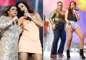 Preta Gil realiza sonho de diva com ajuda de seis estilistas, ao lado de Ivete e Anitta