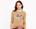 Desejo do Dia: suéter J.Crew com estampa de camelo é o máximo!