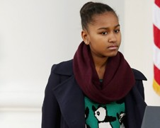 A estilosa Sasha Obama, caçula do presidente dos Estados Unidos