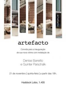 Artefacto inaugura vitrine assinada por Guinter e Denise Barreto