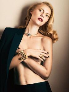 """Claire Danes posa de topless para a revista """"Interview"""" de novembro"""