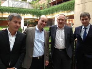 François Pinault, dono do grupo PPR, encontra Zeco Auriemo em SP