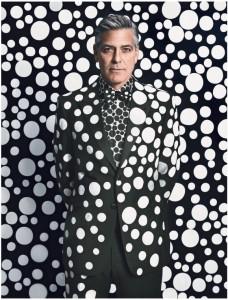 George Clooney vira obra de arte nas mãos de Yayoi Kusama