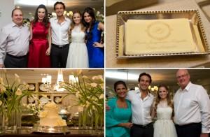 Luiza e Eduardo Junqueira: jantar para o noivado da filha Paula