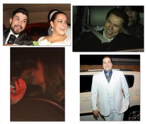 Silvio Santos aparece sorridente em casamento da filha Silvia. Espie!