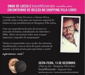 BareMinerals e Omar de Lucca ensinam dicas preciosas de maquiagem. Onde?
