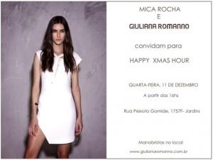 Giuliana Romanno e Mica Rocha comemoram Natal entre amigas