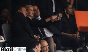 Barack Obama causa climão com Michelle durante cerimônia para Mandela