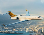 Jatinho Global 6000 leva passageiros de São Paulo a Londres sem escalas