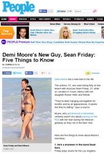Demi Moore é vista com novo affair em praia mexicana. É namoro?