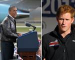 """Príncipe Harry ganha jaqueta """"da sorte"""" de Obama. Espia só!"""
