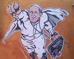 """Um pássaro? Grafite do """"Super Papa"""" ganha homenagem do Vaticano"""